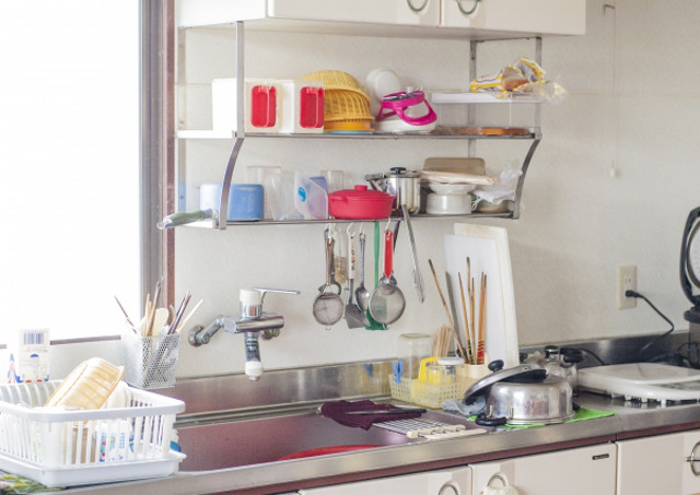 アイテムの多いキッチン